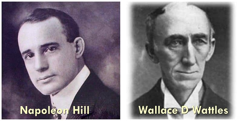 Napoleon Hill and Wallace D Wattles